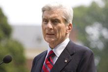 John Warner announces his retirement from the Senate.