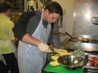 W&L Campus Kitchen volunteer at work