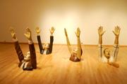 Bob Trotman's exhibit in Staniar Gallery last May