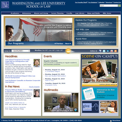 New Look for W&L School of Law