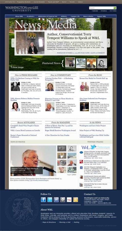 New Washington and Lee University News Site